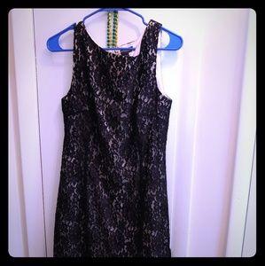 Taylor Womens Lace Sleeveless Dress